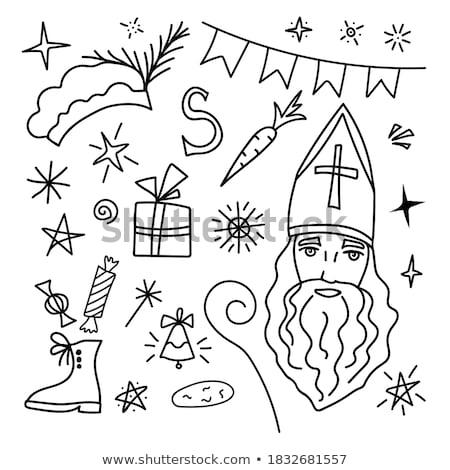 8419e656ca4da Sinterklaas cartoons set Stock photo © ayelet keshet