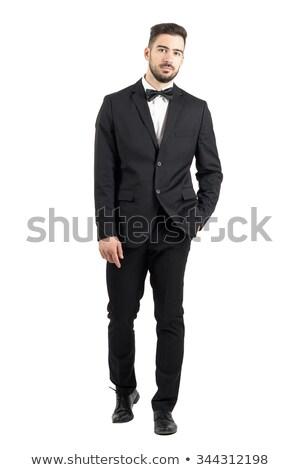 深刻 男 着用 タキシード 立って 手 ストックフォト © feedough