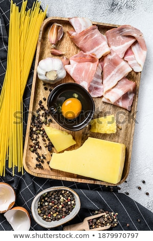 здорового сырой Ингредиенты итальянский пасты соус Сток-фото © Melnyk