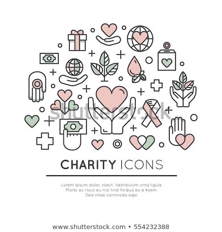 Wolontariusz darowizny elementy ilustracja darowizna jak Zdjęcia stock © lenm
