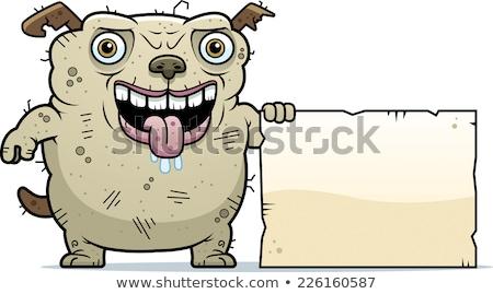 Csúnya kutya felirat rajz illusztráció poszter Stock fotó © cthoman