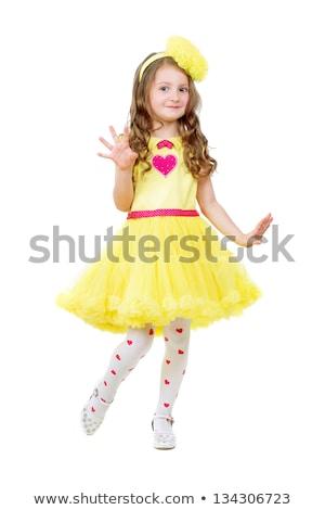 Nice fille pelucheux robe posant Photo stock © acidgrey