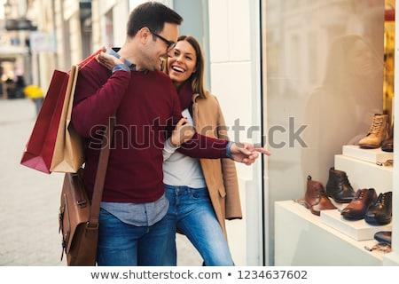 feliz · shopping · venda - foto stock © kzenon