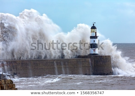 嵐の 天気 海景 波 カスケード ストックフォト © lovleah