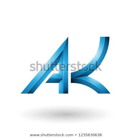 Blauw · meetkundig · brief · vector · illustratie · geïsoleerd - stockfoto © cidepix