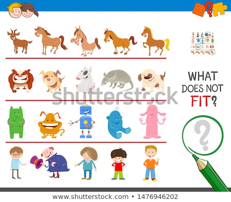 find wrong picture in a row educational game Stock photo © izakowski