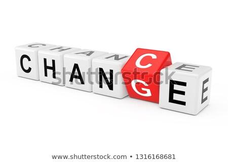 красный изменений шанс слов 3d иллюстрации Сток-фото © limbi007