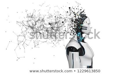 ロボット 頭 ネットワーク 思考 低い ネットワーク ストックフォト © limbi007