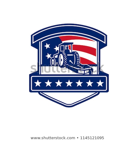 Brush Hogging Services USA Flag Badge  Stock photo © patrimonio