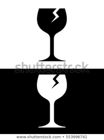 ひびの入った ワイングラス オブジェクト ワイン 透明な ガラス ストックフォト © robuart