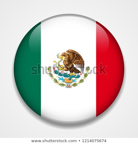 Flag of Mexico on round badge Stock photo © colematt