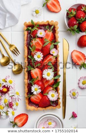 Yummy sweets and fresh flowers Stock photo © BarbaraNeveu