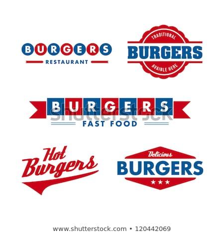 hamburger · hamburger · sajtburger · vektor · gyorsételek · poszter - stock fotó © rogistok