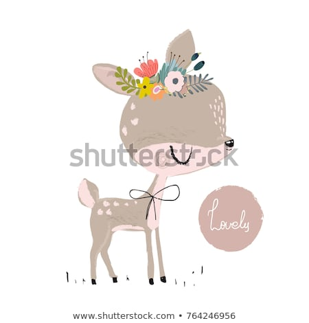 cute animal in nature frame stock photo © bluering