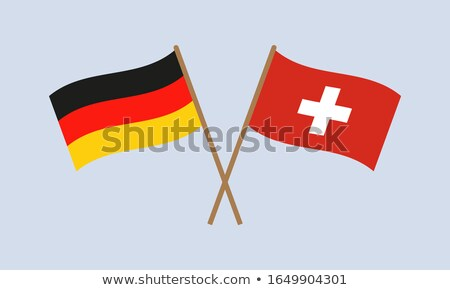 Banner with two square flags of Germany and switzerland Stock photo © MikhailMishchenko
