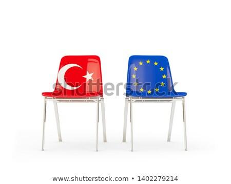 チェア フラグ eu トルコ 孤立した ストックフォト © MikhailMishchenko