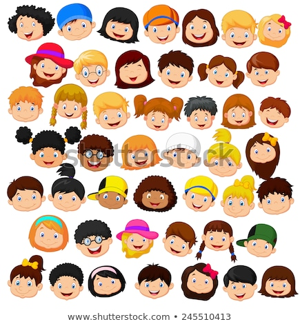 vector set of student face stock photo © olllikeballoon