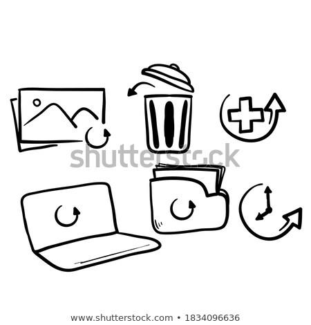 güvenli · simgesi · indir · indirmek · kalkan · ikon · soyut - stok fotoğraf © rastudio