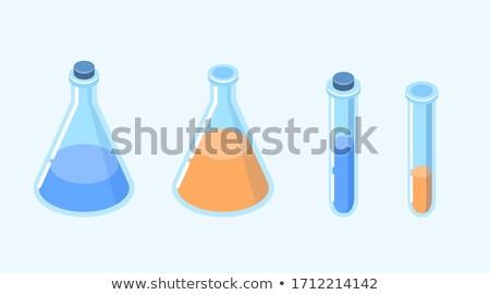 Kimyasal renk izometrik simgeler eps 10 Stok fotoğraf © netkov1