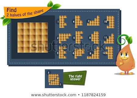 shape game 2 halves  adults  Stock photo © Olena