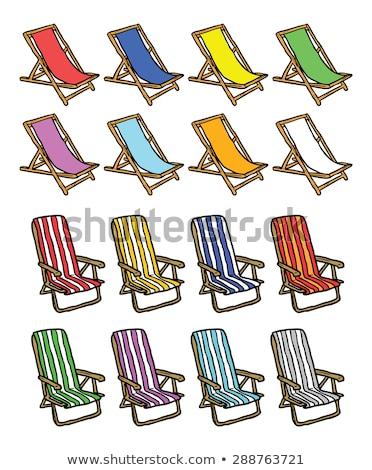 Kolorowy szorstki szkic krzesło zestaw domu Zdjęcia stock © Blue_daemon