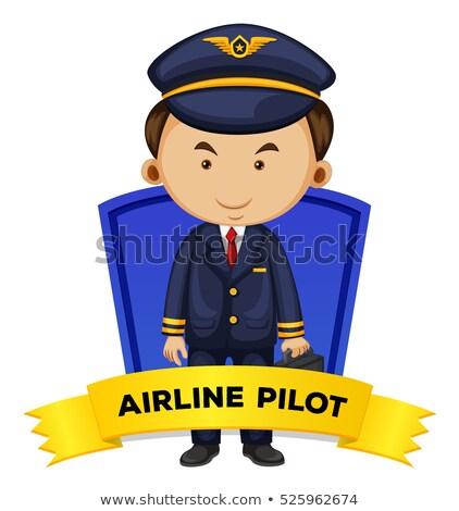 Zawód linia lotnicza pilota ilustracja człowiek pracy Zdjęcia stock © colematt