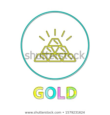 Gold Web Button, Linear Icon for Online Payments Stock photo © robuart