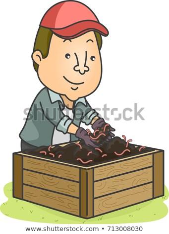 Man illustratie jonge tuinman vak Stockfoto © lenm