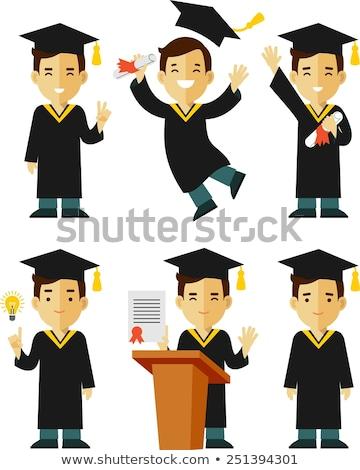 graduación · vestido · fondo · educación · jóvenes · futuro - foto stock © vladacanon