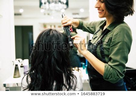 Gyönyörű lány romantikus hajviselet profi smink szag Stock fotó © ElenaBatkova