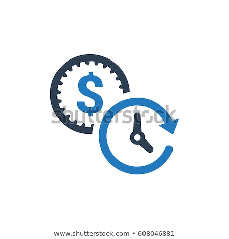 Clock with Coins and Dollars, Time is Money Vector Stock photo © robuart
