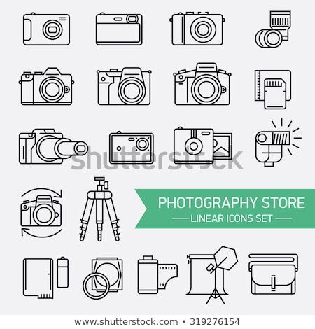 fotó · videó · szett · ikonok · számítógép · laptop - stock fotó © pikepicture