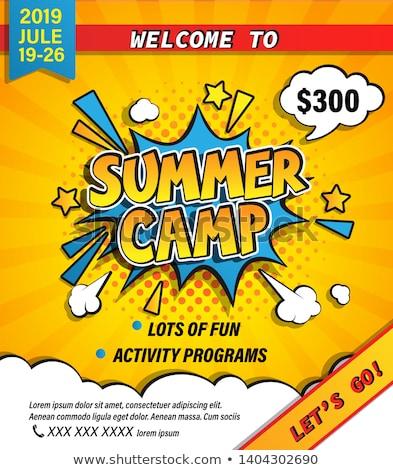 Sport summer camp concept vector illustration Stock photo © RAStudio