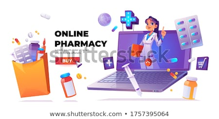 Smart pill boxes concept landing page Stock photo © RAStudio