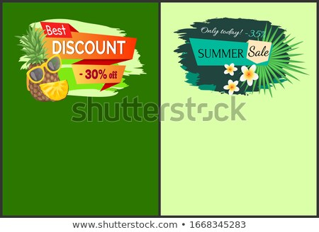 best discount 35 percent of summer sale web pages stock photo © robuart