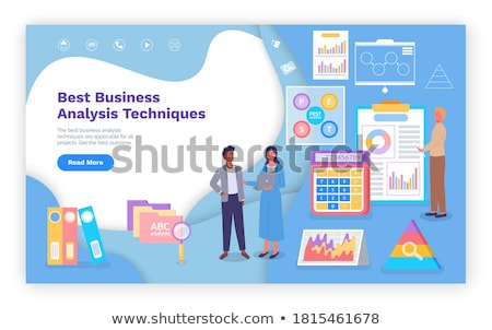Visual Representation of Business Analysis Diagram Stock photo © robuart