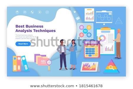 Visual Representation of Business Analysis Diagram Stock photo © robuart