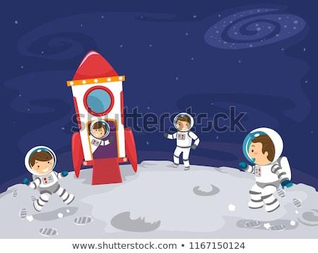 De kosmische ruimte moeder schip illustratie fantasie futuristische Stockfoto © lenm