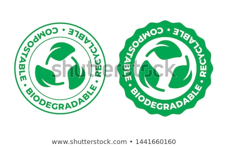 Biodegradable, plastic free icon - compostable product label, ec Stock photo © Winner