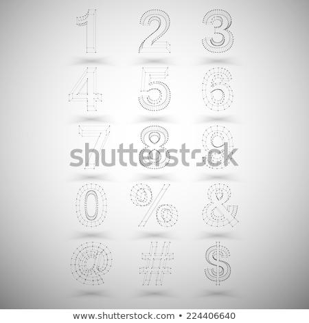Három színek vonal betűtípus i betű 3D Stock fotó © djmilic