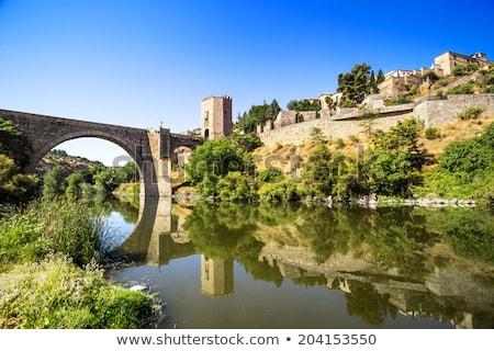 Spanje · Romeinse · boog · brug · stad · muur - stockfoto © borisb17