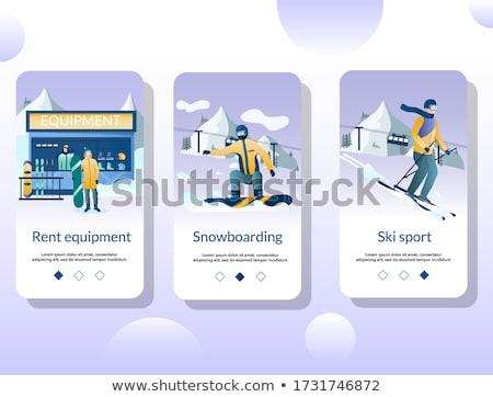 Kış aşırı spor uygulaması arayüz şablon Stok fotoğraf © RAStudio