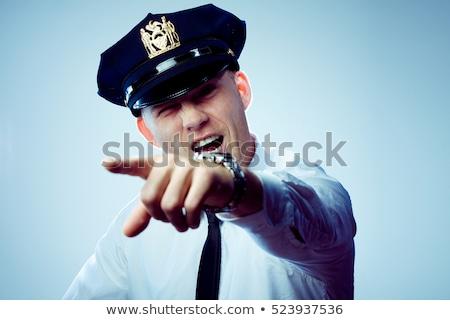 Komisarz policjant pop art retro Zdjęcia stock © studiostoks