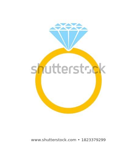 Diamante anel de noivado mão amor mulheres noiva Foto stock © nezezon