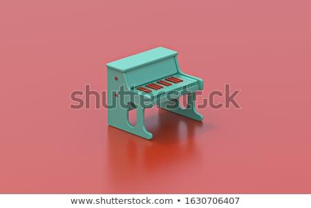 Pici zongora játék 3D 3d render illusztráció Stock fotó © djmilic