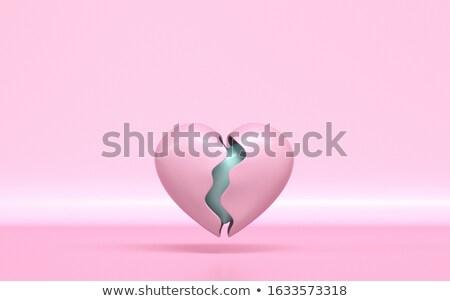 Rotto rosa cuore sani nucleo 3D Foto d'archivio © djmilic
