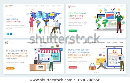 B2b piactér férfi tabletta weboldal online Stock fotó © robuart