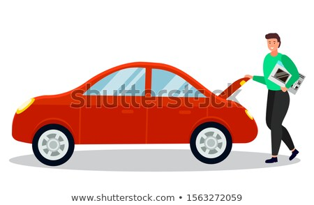Man gekocht elektronische auto vector Stockfoto © robuart