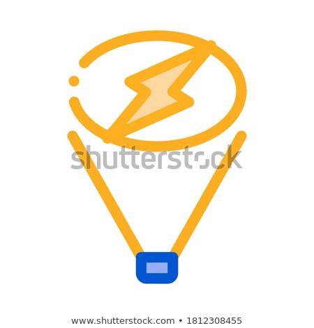 Schijnwerper geven signaal icon vector schets Stockfoto © pikepicture