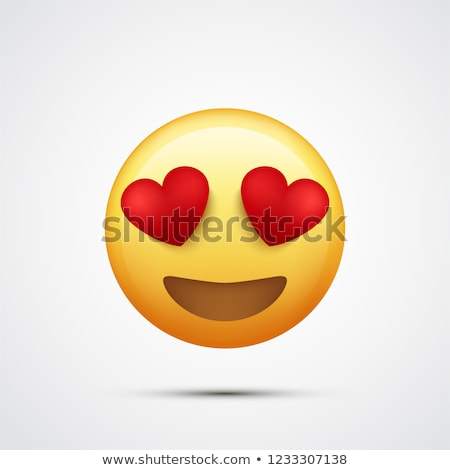 Emoji in Love Facial Expression of Lovely Emoticon Stock photo © robuart